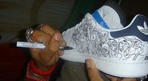 draw on a shoe