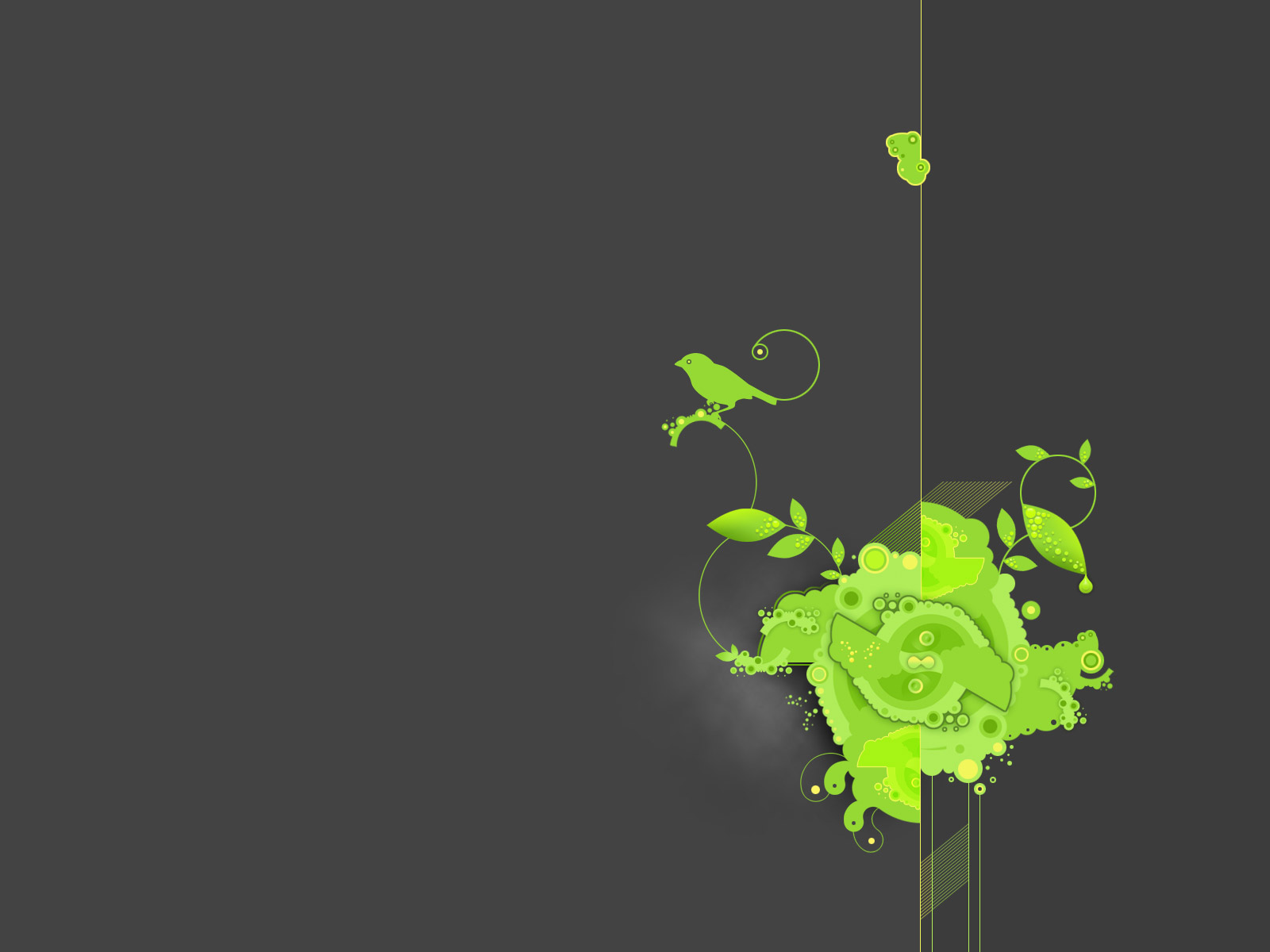 green flower widescreen